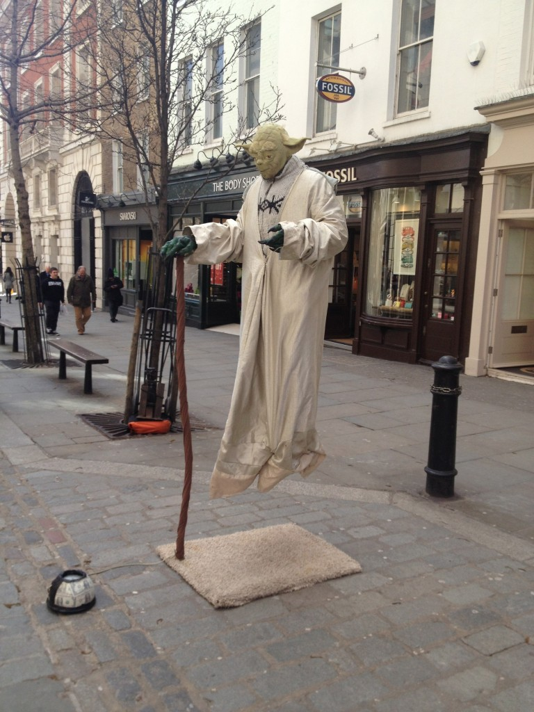 I saw Yoda levitating in Covent Garden