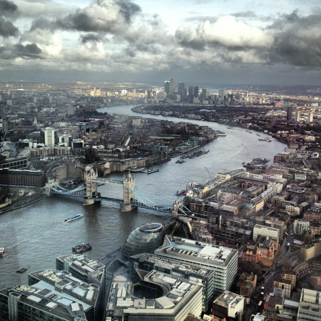 We went up The Shard and I admired what I think is the best city in the world