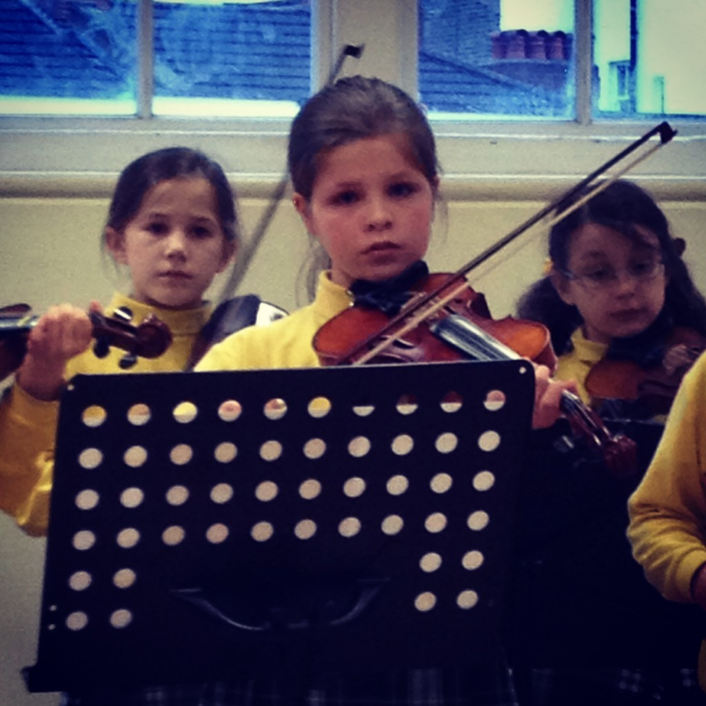 My heart nearly burst with pride watching Holly at her  violin concert.