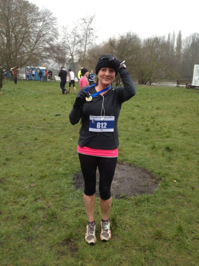 I ran another 10k race as part of my training for a half marathon and trudged though mud for 58 mins in -2C snow. And still loved it.