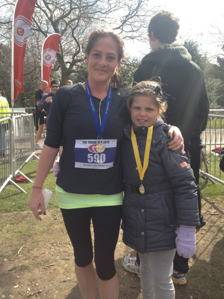 But the highlight of my week was running a 15k race at the same event where Holly ran her first 2k race, and she was the first girl across the finish line. So proud x