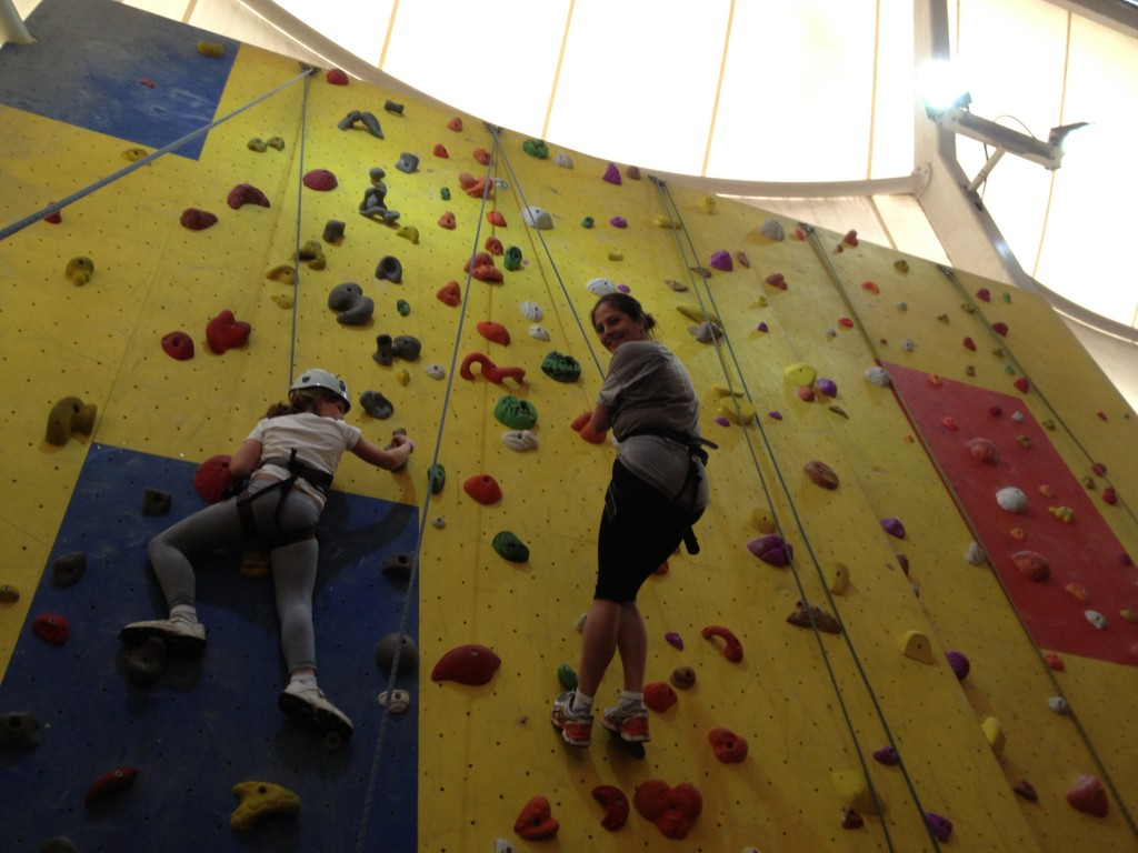 I took the kids rock climbing. I'm terrified of heights so totally shat myself.