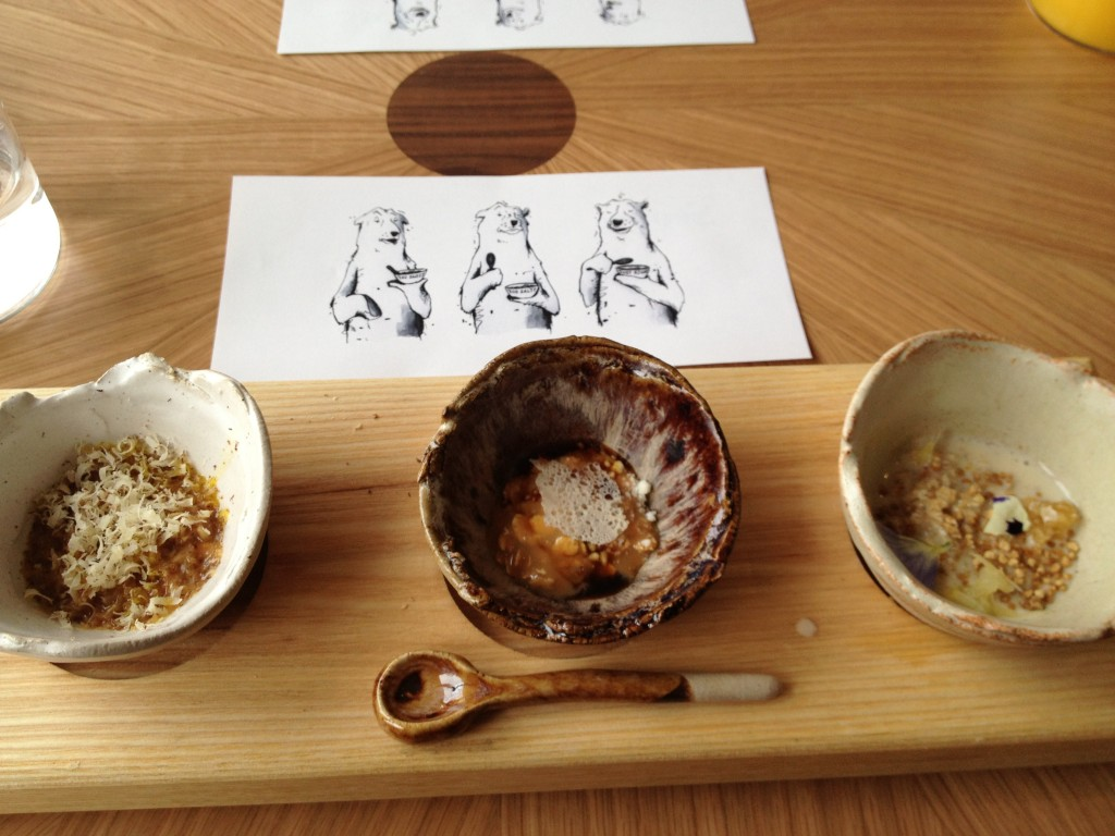 I went to the opening of an amazing new restaurant in London with my good friend who's a chef and we ate '3 Bears Porridge' for dessert. It was awesome.