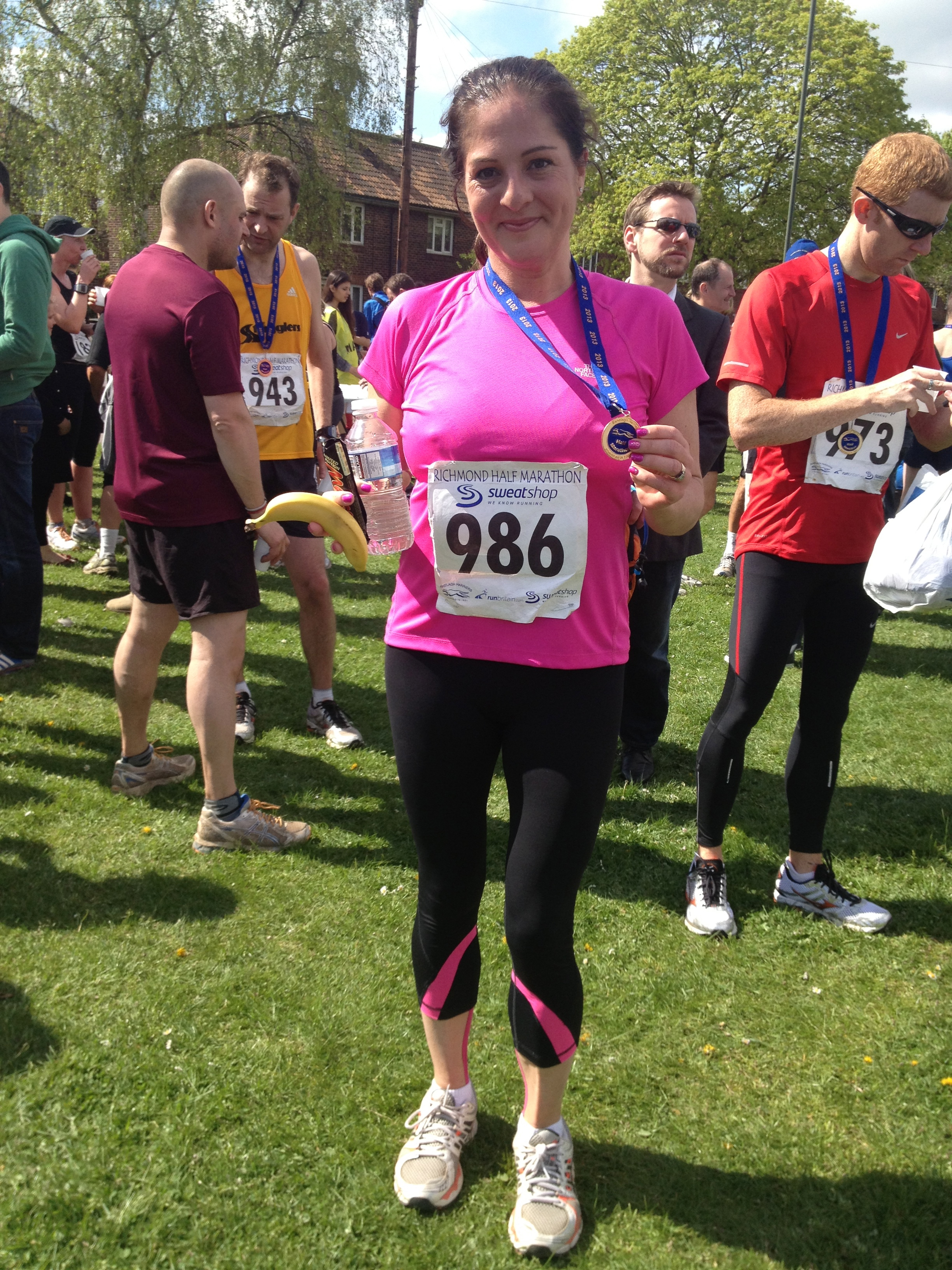 And on sunday I ran my first half marathon and loved it (even though I can hardly walk now). What a sense of achievement.