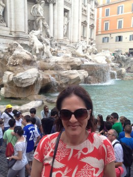 We stayed about 40m from the Trevi Fountain.