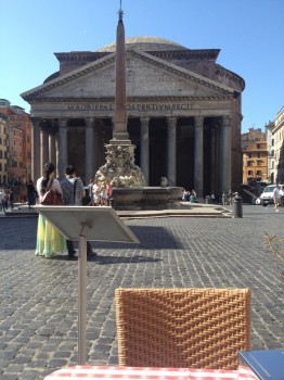 We drank many a cappuccino at tables with views like this, of the Pantheon - possibly my favourite place in Rome.