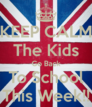 keep calm kids back to school