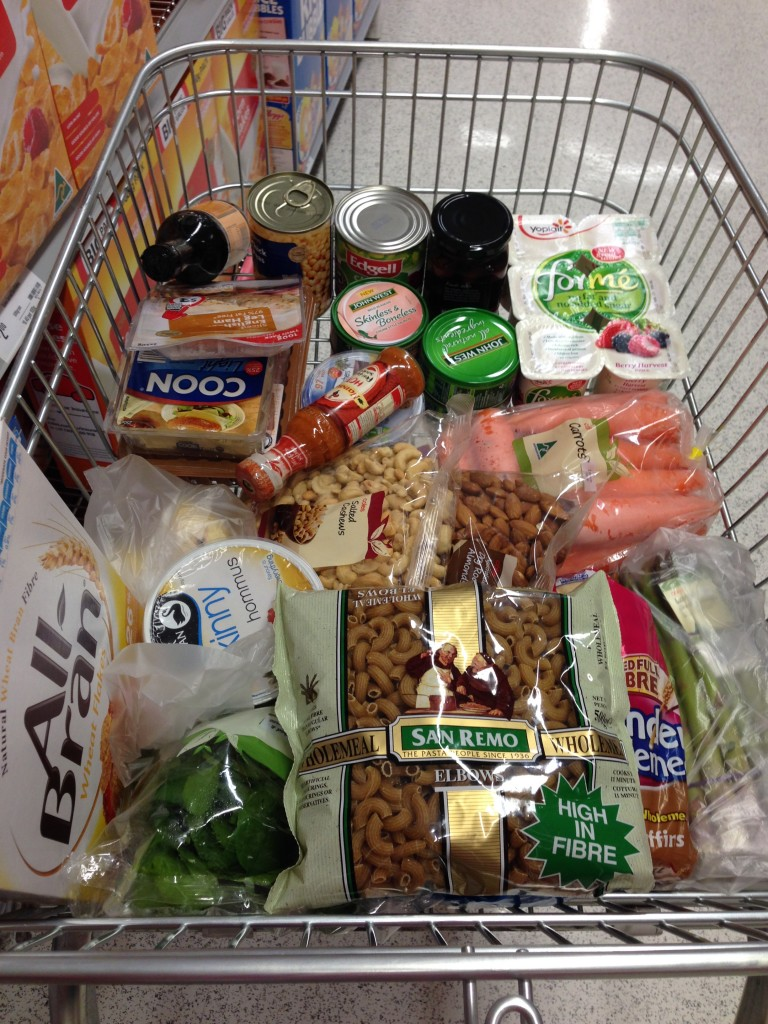 On Monday I stated (another) new diet. It was a proud supermarket trolley moment. It doesn't happen often.