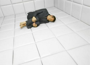 Padded cell. I give it a week.